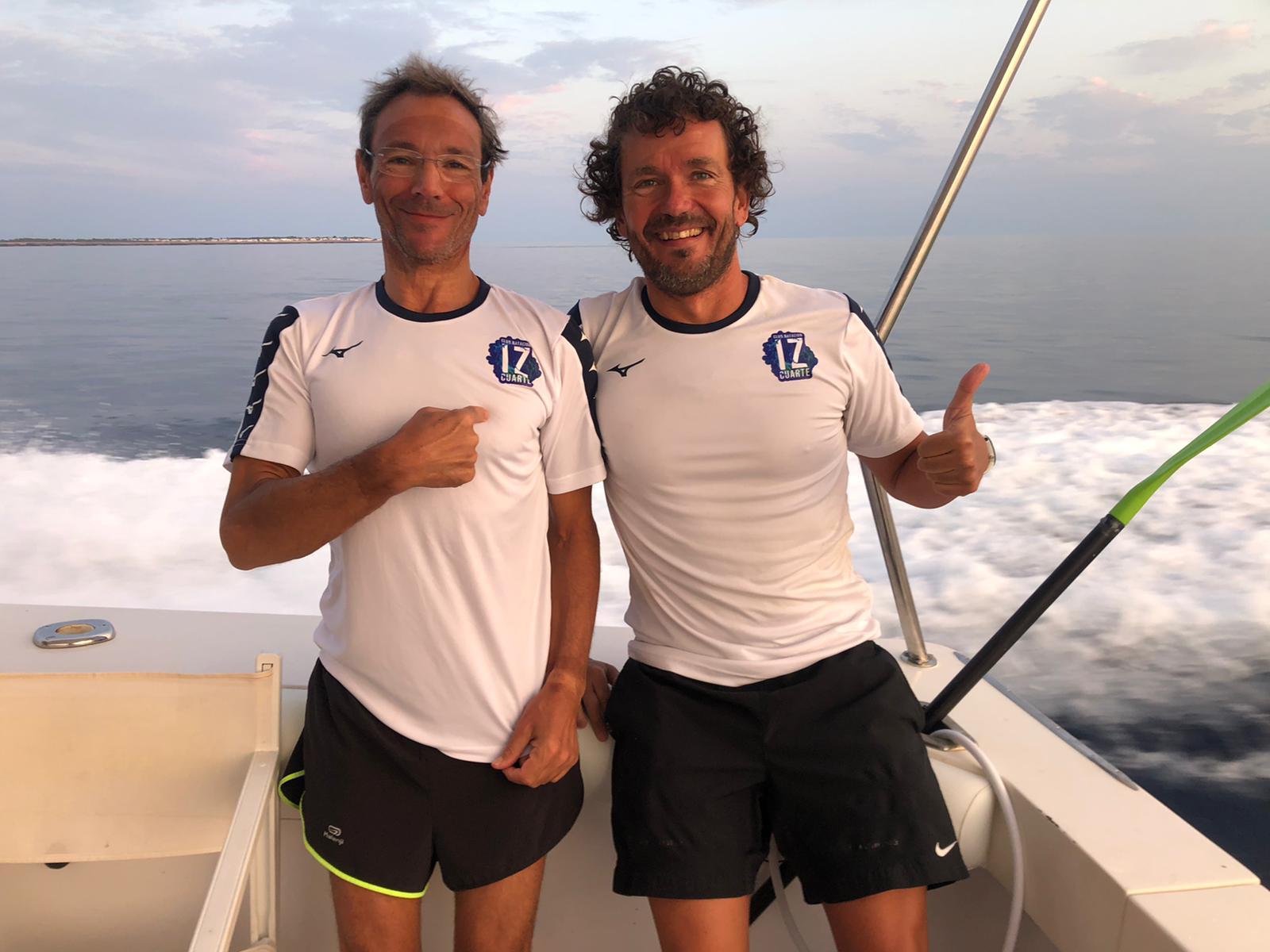 Luis Redondo (derecha) con su compañero de reto José Luis Gil (izquierda)